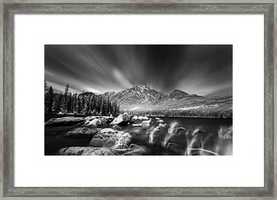 Pyramid Lake Rocky Shores Framed Print by Ian MacDonald