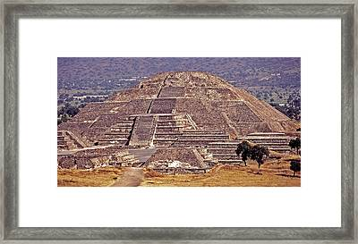 Pyramid Of The Sun - Teotihuacan Framed Print by Juergen Weiss