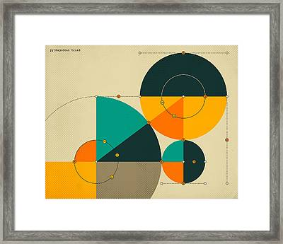 Pythagorean Triad Framed Print by Jazzberry Blue