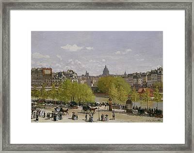 Quai Du Louvre In Paris Framed Print by Claude Monet