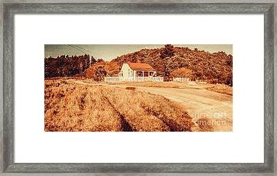 Quaint Country Cottage Framed Print by Jorgo Photography - Wall Art Gallery