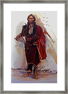 Quannah Parker Framed Print by Harvie Brown