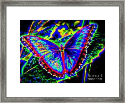 Quantum Butterfly Framed Print by Kasia Bitner