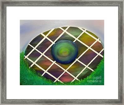 Quantum Easter Egg Framed Print by Roxane Gabriel