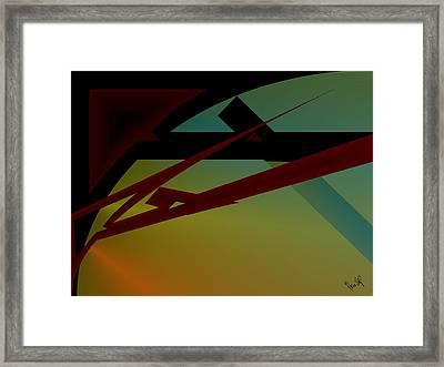 Quarter Framed Print by Helmut Rottler