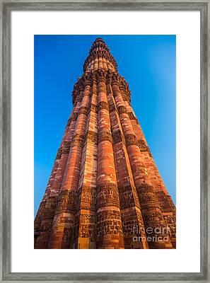 Quatab Minar Tower Framed Print by Inge Johnsson