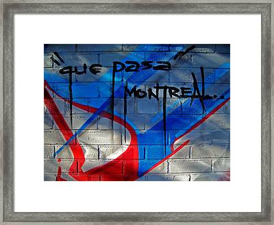 Que Pasa ... Framed Print by Juergen Weiss