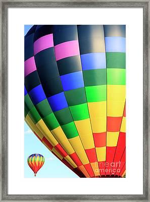 Quechee Vermont Hot Air Balloon Fest 2 Framed Print by Edward Fielding
