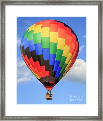 Quechee Vermont Hot Air Balloon Fest 3 Framed Print by Edward Fielding