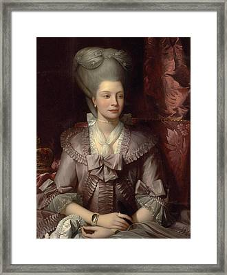 Queen Charlotte Framed Print by Benjamin West