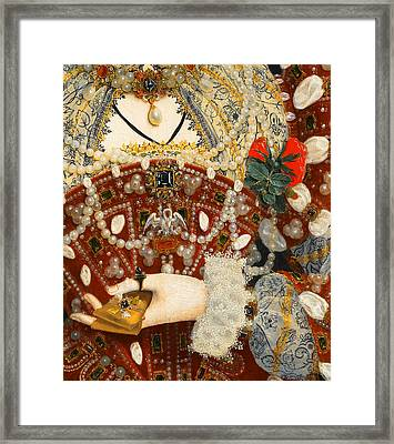 Queen Elizabeth I   Detail From The Pelican Portrait Framed Print by Nicholas Hilliard