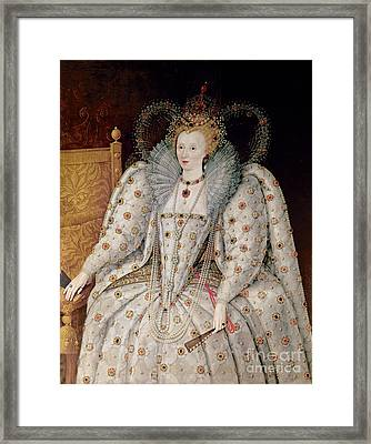 Queen Elizabeth I Of England And Ireland Framed Print by Anonymous