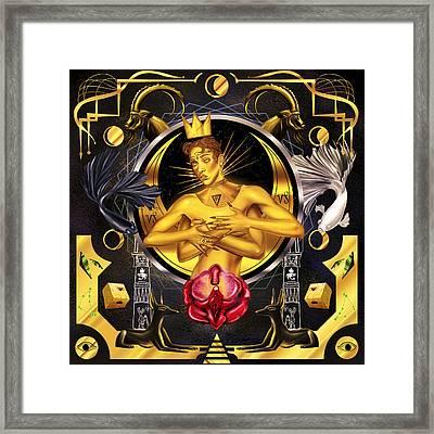 Queen Fka Twigs Illustration Framed Print by Kenal Louis