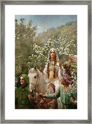 Queen Guinevere Framed Print by John Collier