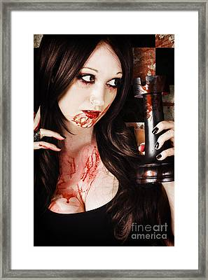 Queen In A Bloody Battle For The Castle Tower Framed Print by Jorgo Photography - Wall Art Gallery