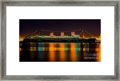 Queen Mary - Nightside Framed Print by Jim Carrell