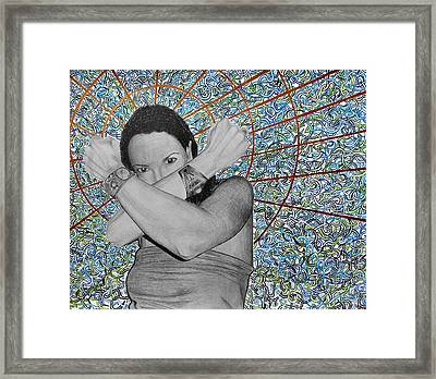 Queen Framed Print by Meghan Oona Clifford
