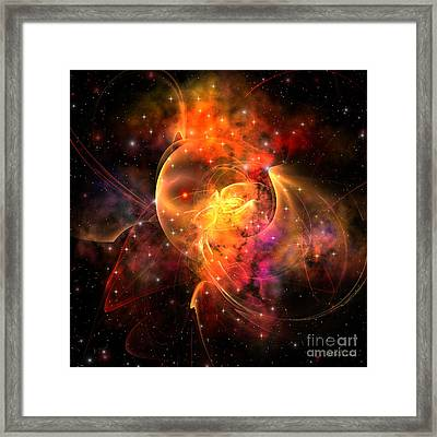 Queen Nebula Framed Print by Corey Ford