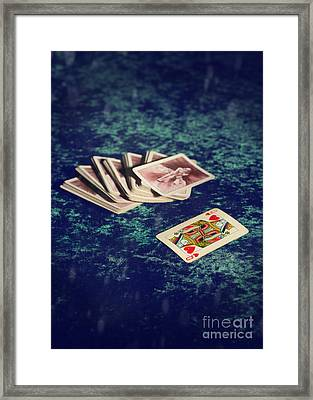 Queen Of Hearts Framed Print by Amanda And Christopher Elwell