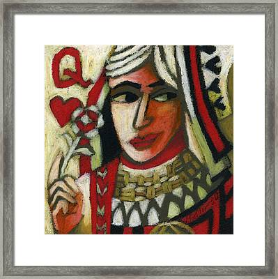 Queen Of Hearts Framed Print by Erik Pearson