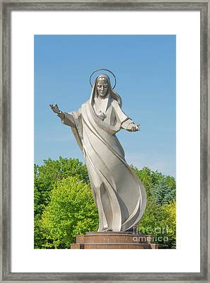 Queen Of Peace Framed Print by Pamela Williams