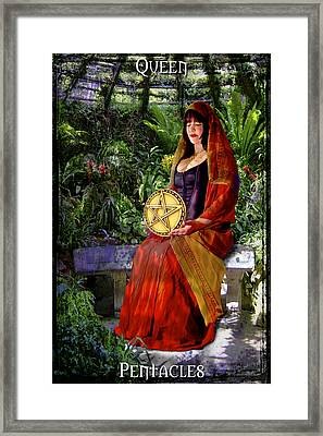 Queen Of Pentacles Framed Print by Tammy Wetzel