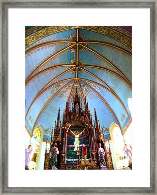 Queen Of The Painted Churches Closeup Framed Print by John Noyes and Janette Boyd
