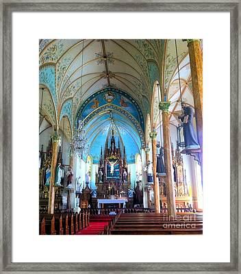 Queen Of The Painted Churches Framed Print by John Noyes and Janette Boyd