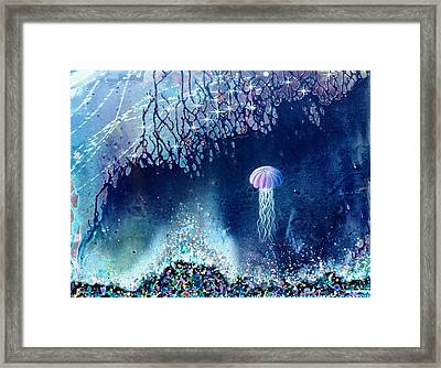 Queen Of The Starry Reef Framed Print by Lee Pantas