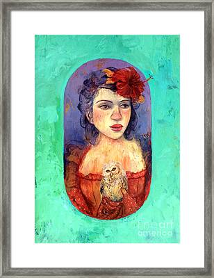 Queen Of Wisdom Framed Print by Tonya Engel