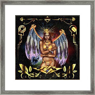 Queen Rihanna Illustration Framed Print by Kenal Louis