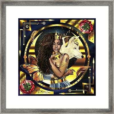Queen Sza Illustration Framed Print by Pierre Louis