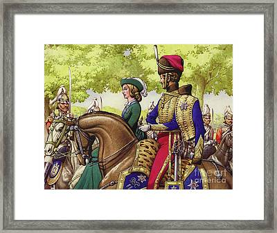 Queen Victoria And Prince Albert Framed Print by Pat Nicolle