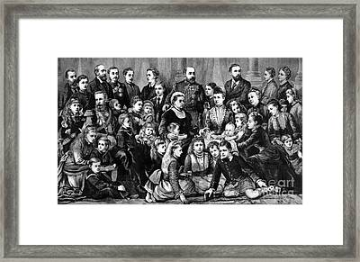 Queen Victoria With Members Of Royal Framed Print by Science Source