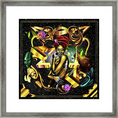 Queen Winnie Harlow Framed Print by Kenal Louis