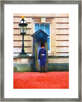 Queens Guard Framed Print by Sharon Lisa Clarke