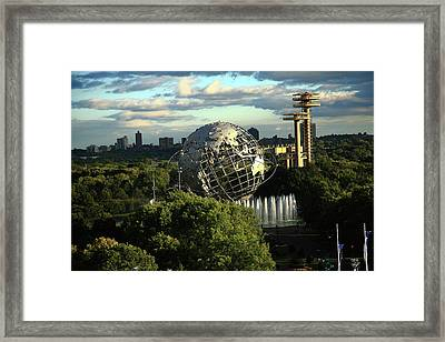 Queens New York City - Unisphere Framed Print by Frank Romeo