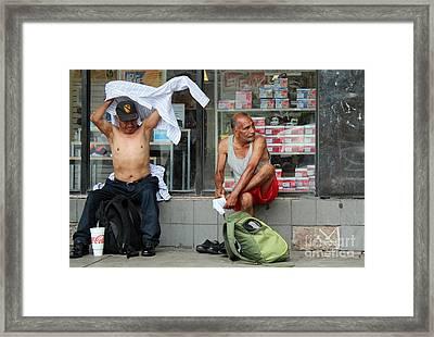 Quick Change Artists Framed Print by Joe Jake Pratt