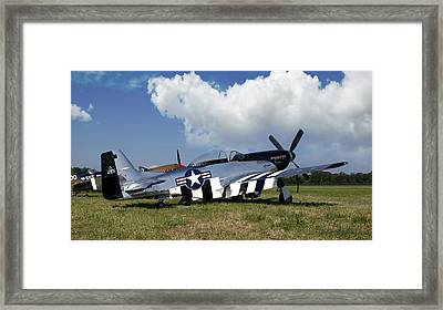 Quick Silver P-51 Color Framed Print by Peter Chilelli