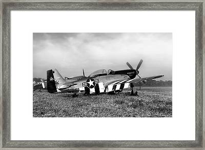 Quick Silver P-51 Mustang Framed Print by Peter Chilelli