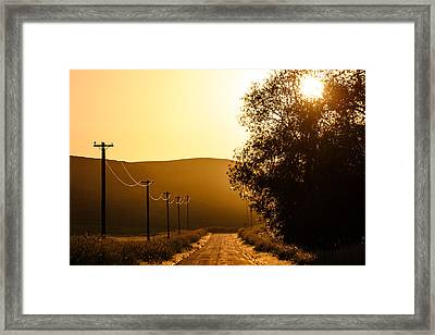 Quiet Country Road Framed Print by Todd Klassy