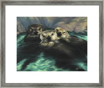 Quiet Cove Framed Print by Lucy West