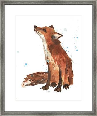 Quiet Fox Framed Print by Alison Fennell