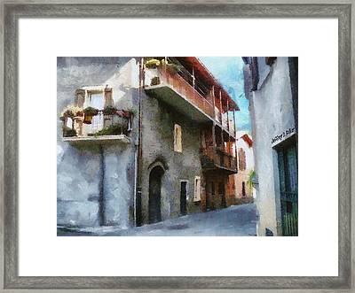 Quiet In Almenno San Salvatore Framed Print by Jeff Kolker