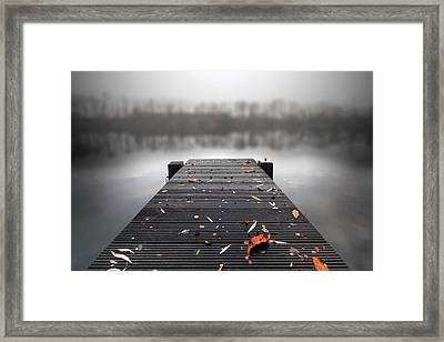 Quiet Lake Framed Print by Marc Huebner