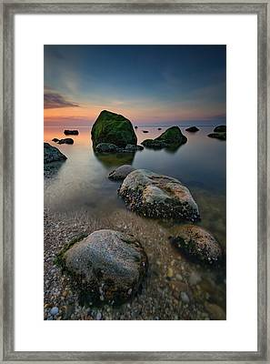Quiet Long Island Sound Framed Print by Rick Berk