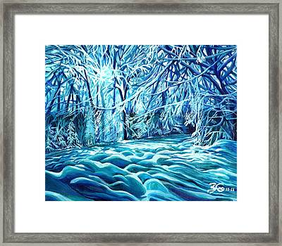 Quiet Of Winter Framed Print by Suzanne King
