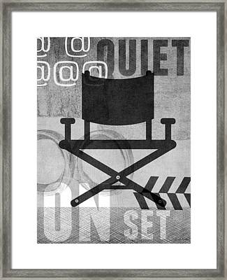 Quiet On Set- Art By Linda Woods Framed Print by Linda Woods