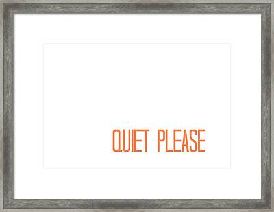 Quiet Please Framed Print by Chastity Hoff