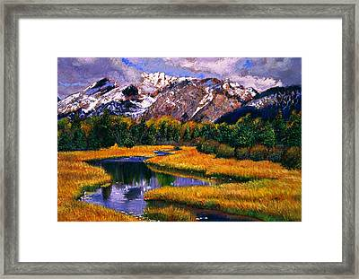 Quiet River Framed Print by David Lloyd Glover